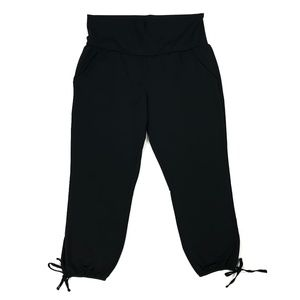 Lucy Black Pants Belly Panel Yoga Lounge 3390